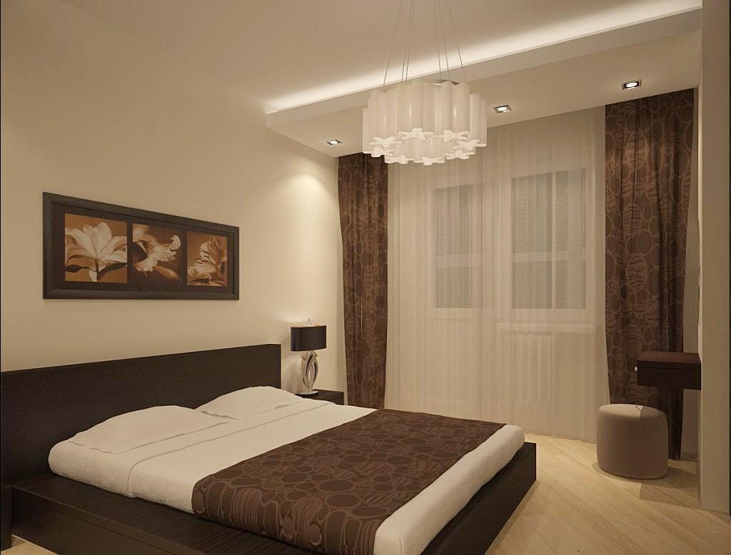дизайн обоев для спальни фото