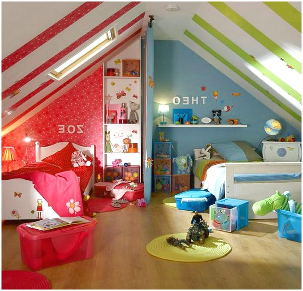 Дизайн маленькой детской комнаты для разнополых детей