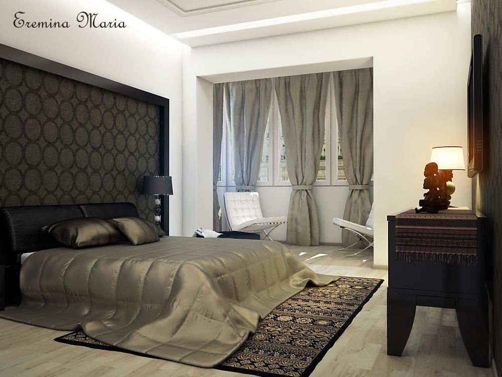 Дизайн спальни совмещенной с балконом и лоджией: фото идеи.
