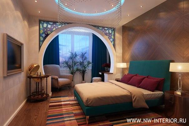 """Дизайн спальни с балконом 2016 """" картинки и фотографии дизай."""