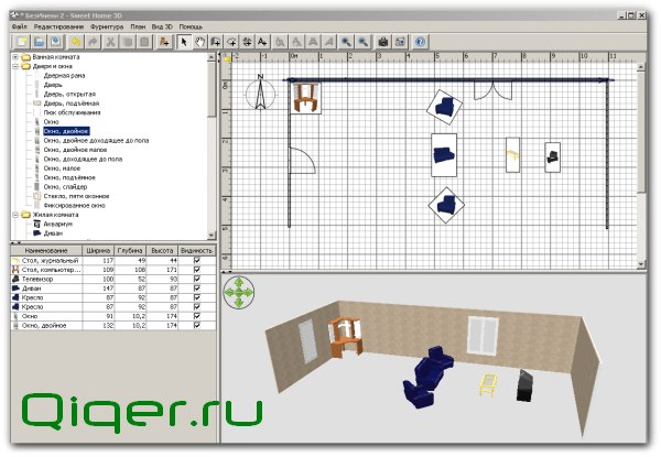 Схемы комнаты программ