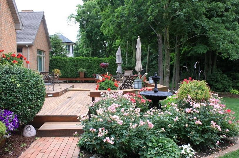 Красота во дворе частного дома своими руками фото фото 825