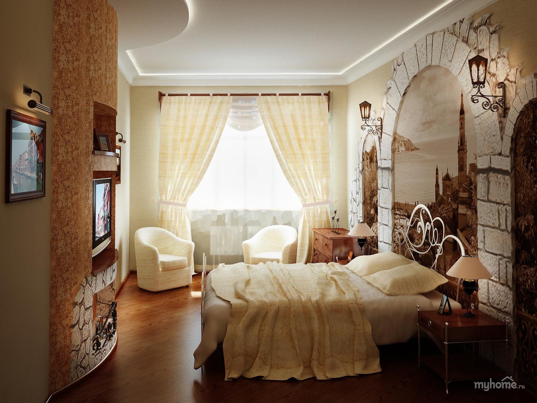 """Дизайн спальни в греческом стиле """" картинки и фотографии диз."""