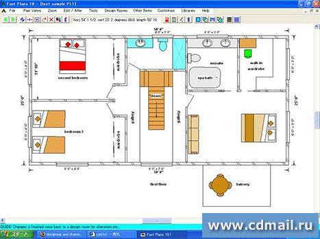 программа для рисования схемы помещения