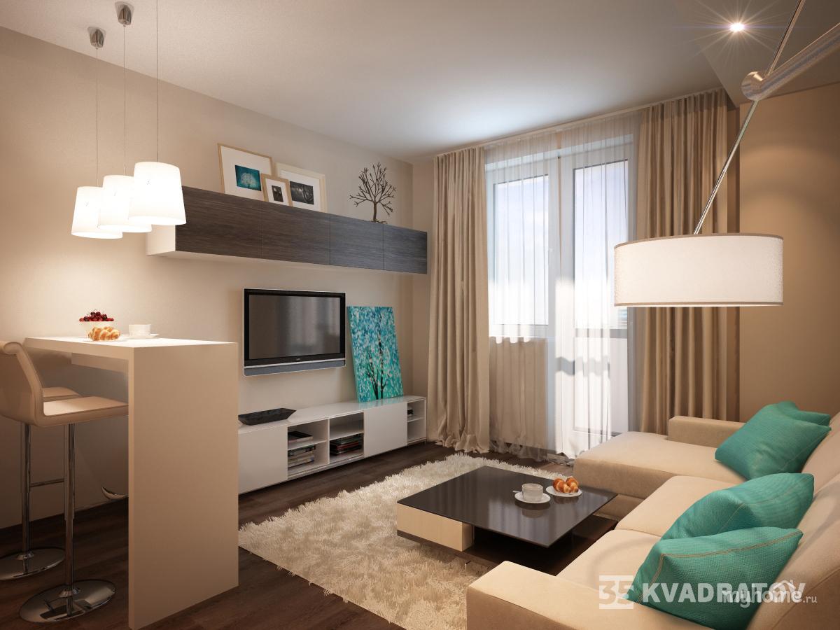 """Дизайн проект двухкомнатной квартиры 121 серии """" картинки и ."""
