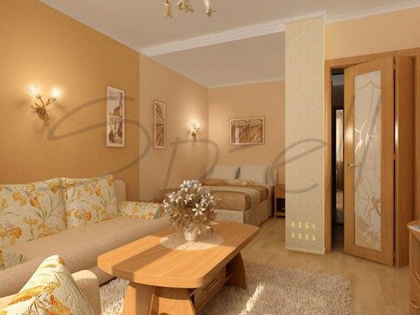 Планировка комнаты с нишей