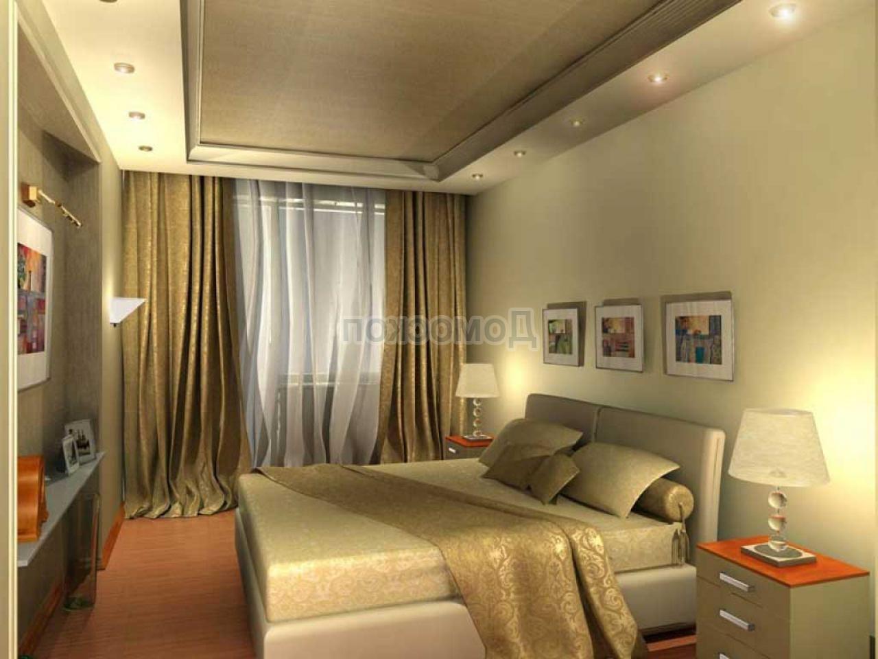Дизайн интерьера узкой спальни: прямоугольной, угловой, 3х3,.