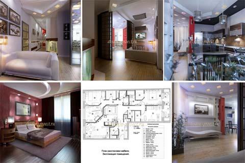 Дизайн квартиры 4-х комнатной