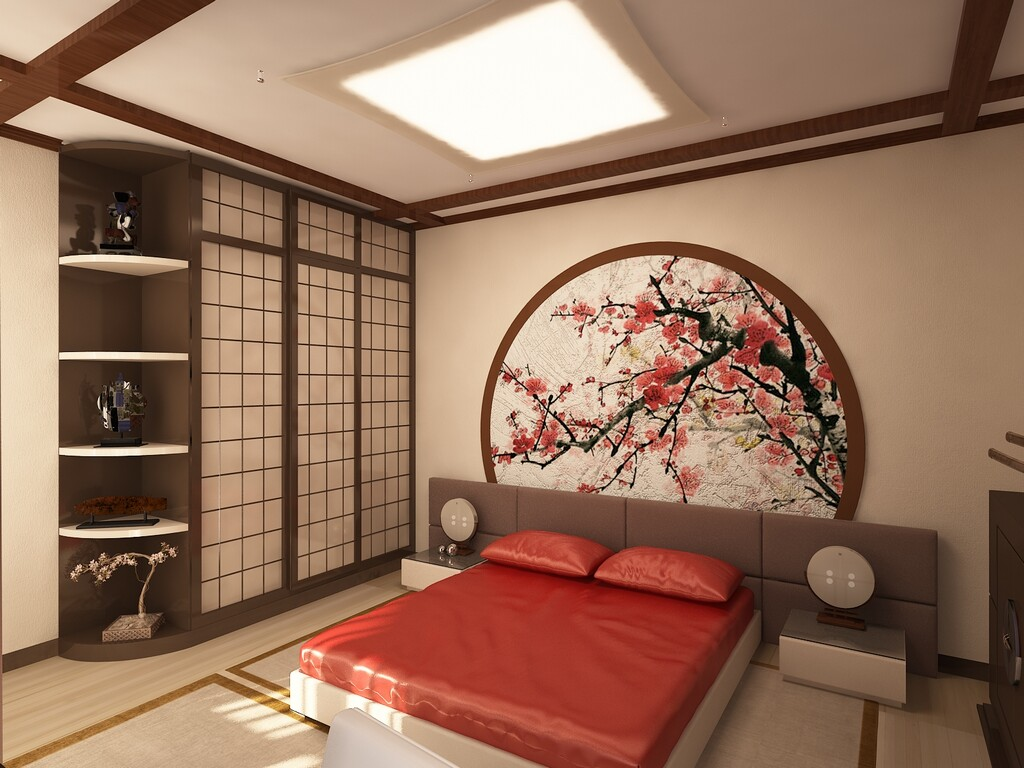 Дизайн спальни фото в восточном стиле