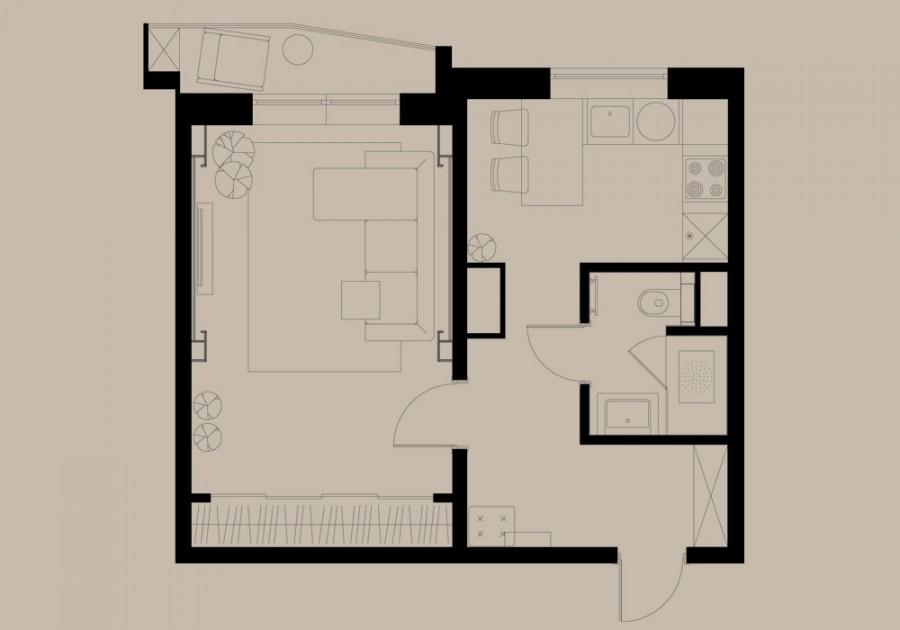 Дизайн однокомнатной квартиры в доме серии п-44т. обсуждение.