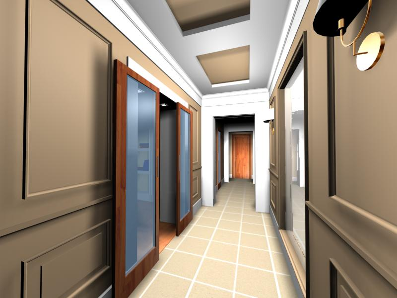 """Дизайн интерьера длинного коридора в квартире """" картинки и ф."""