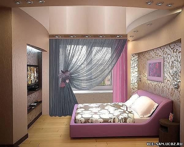 """Интерьер маленькой узкой спальни фото """" картинки и фотографи."""