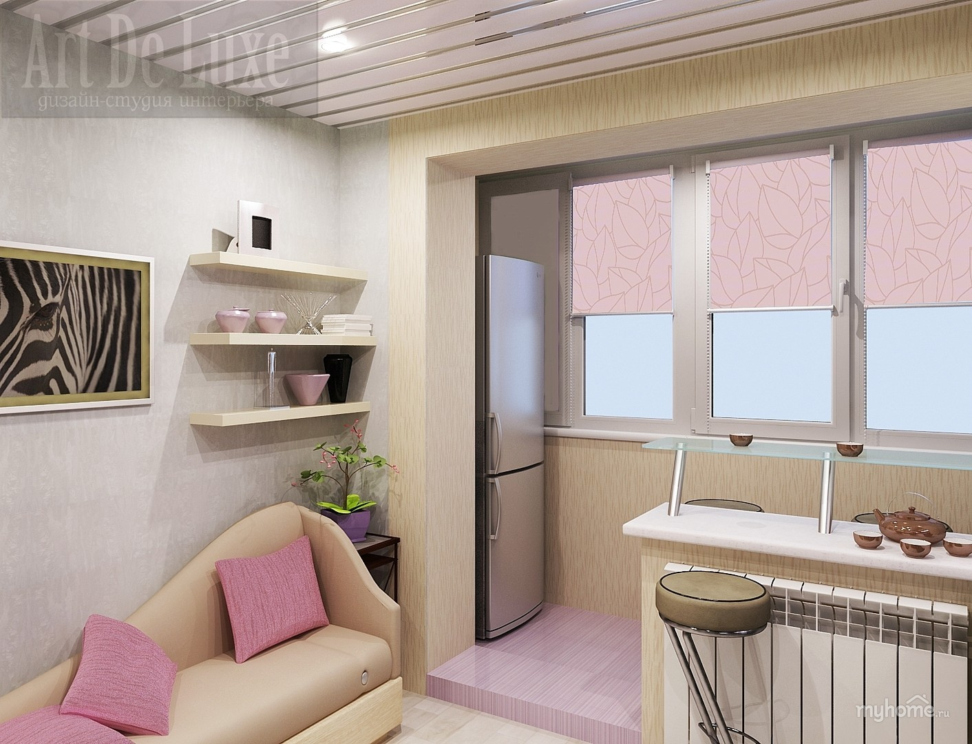 Объединение балкона с комнатой (63 фото): совместить лоджию .