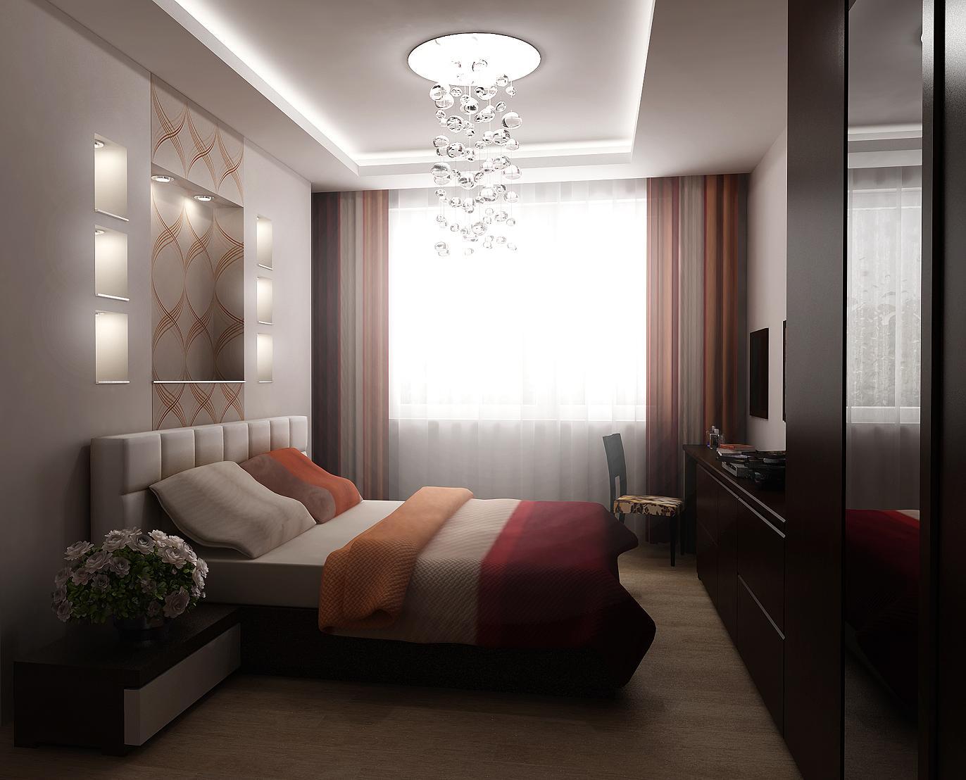 дизайн узкой спальни фото 12 кв.м