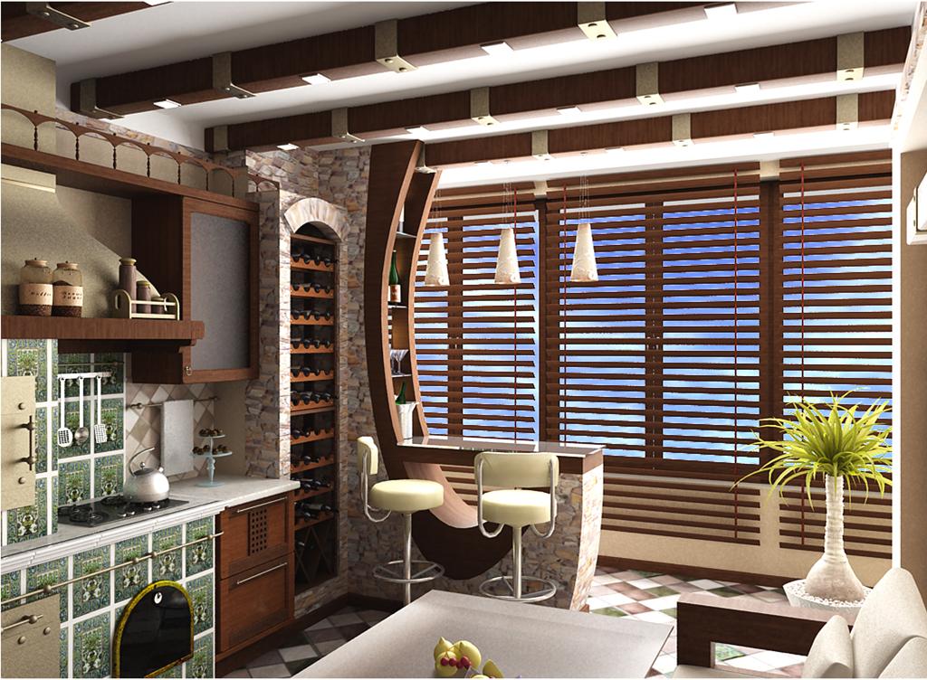 """Кухня совмещенная с балконом дизайн фото """" картинки и фотогр."""