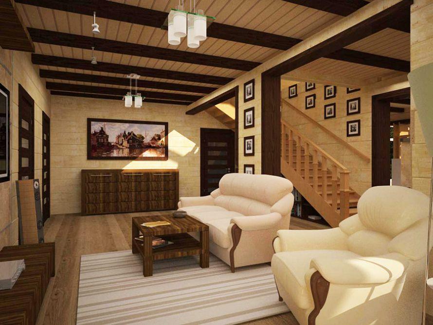 выборе дизайн иньтерьера деревянного дома все