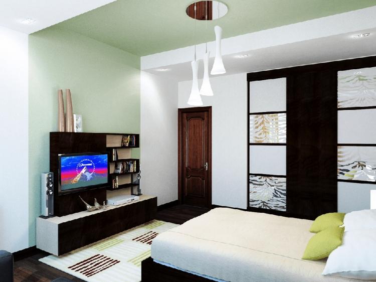 Мужской интерьер квартиры холостяка 64