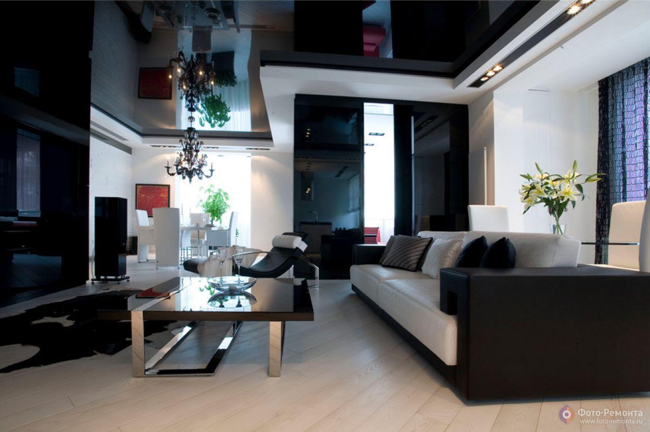 дизайн гостиной в черно белых тонах картинки и фотографии дизайна