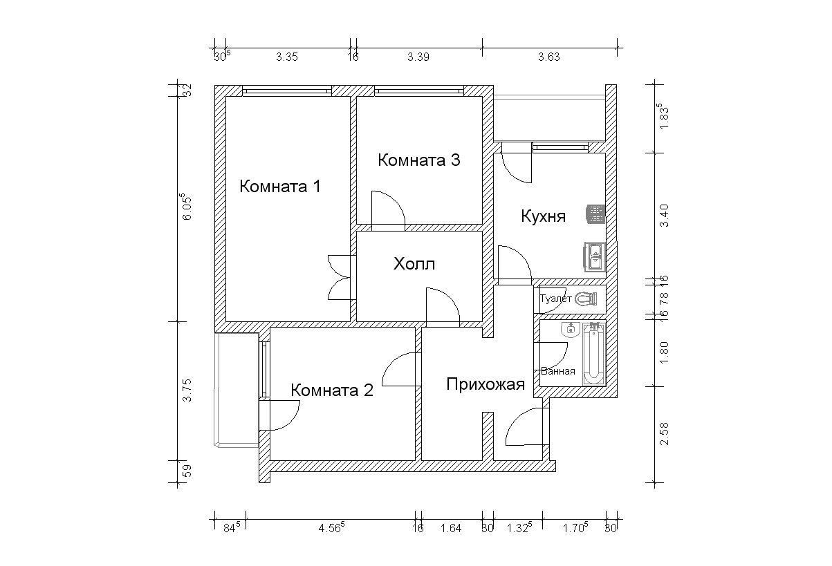 Продам 3-комнатную - ул большая набережная, 11к1, 2.9 кв.м. .