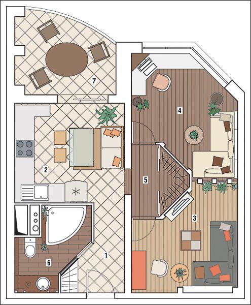 """Дизайн проект трехкомнатной квартиры копэ """" картинки и фотог."""