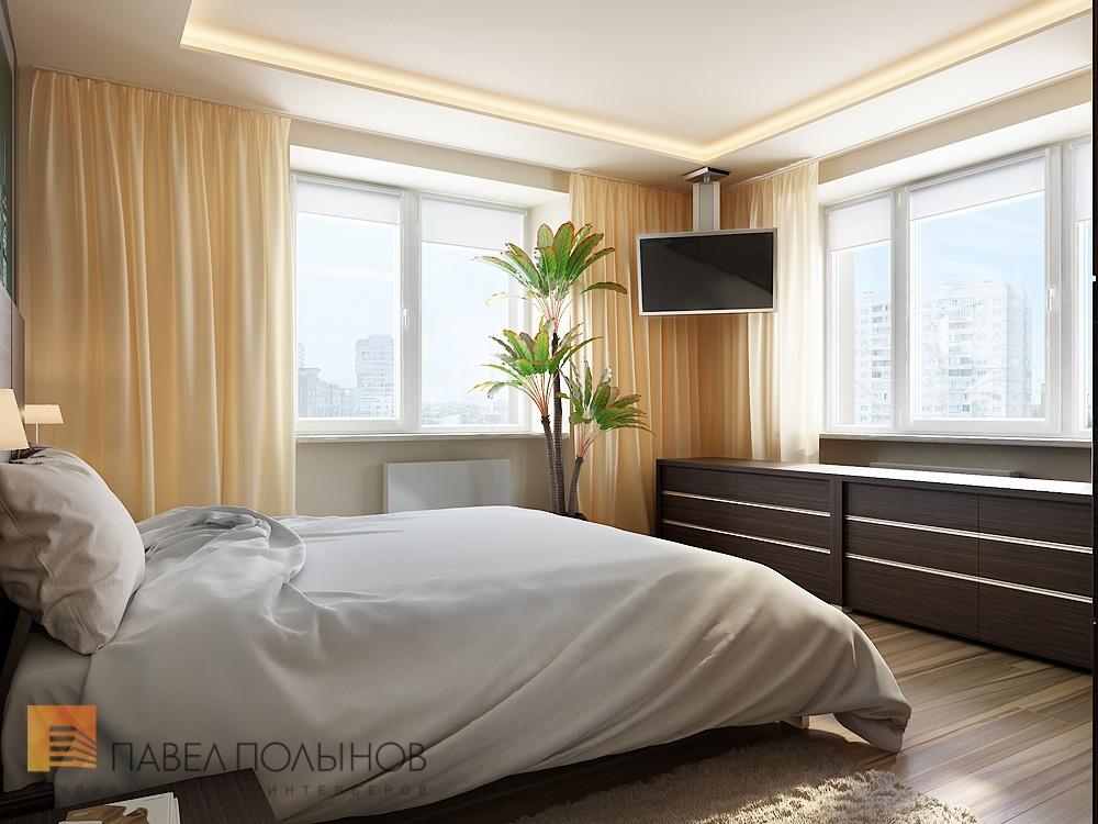 """Фото дизайна спальни с двумя окнами """" картинки и фотографии ."""