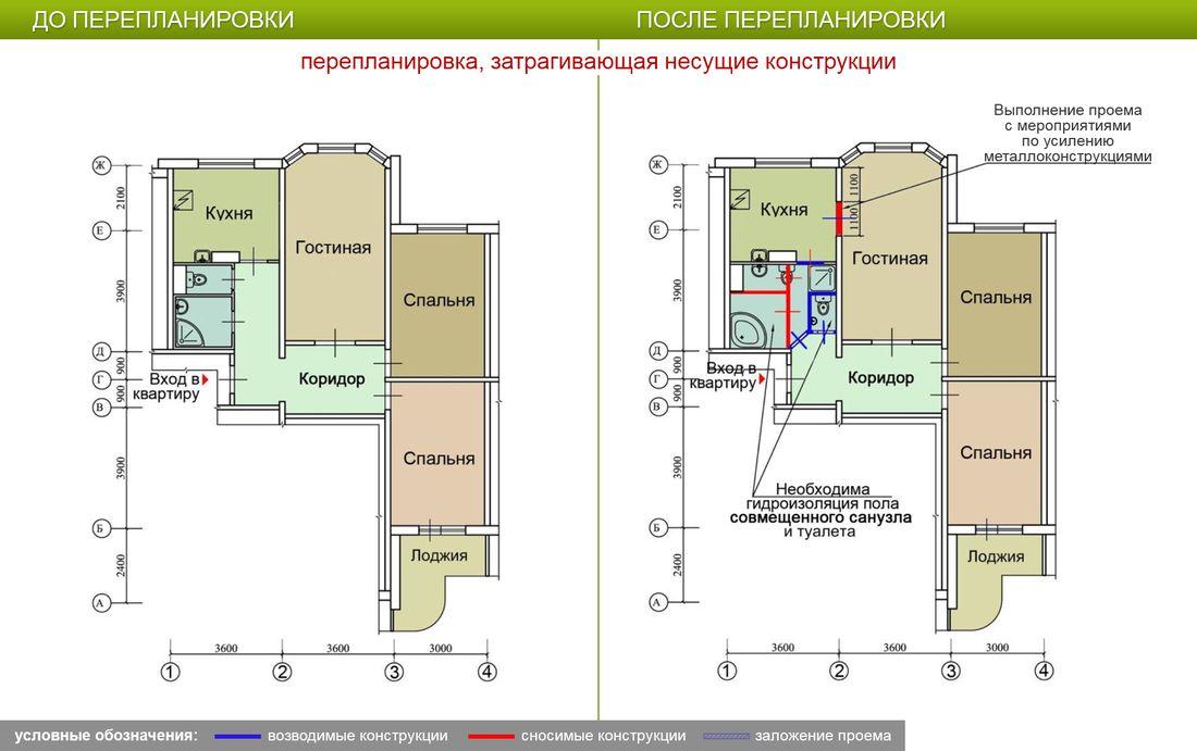 Планировка дома ii 57 два балкона двухкомнатная.