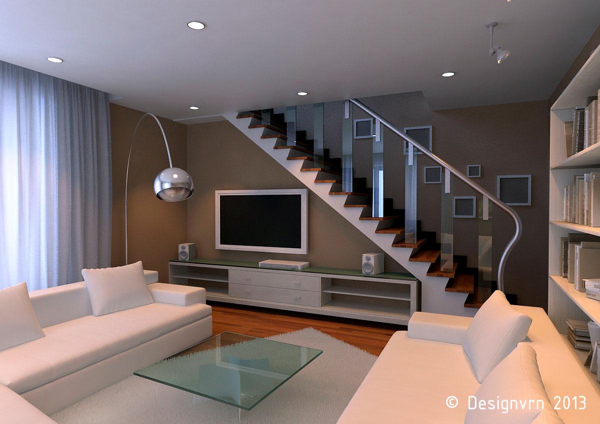фото лестница в гостиной