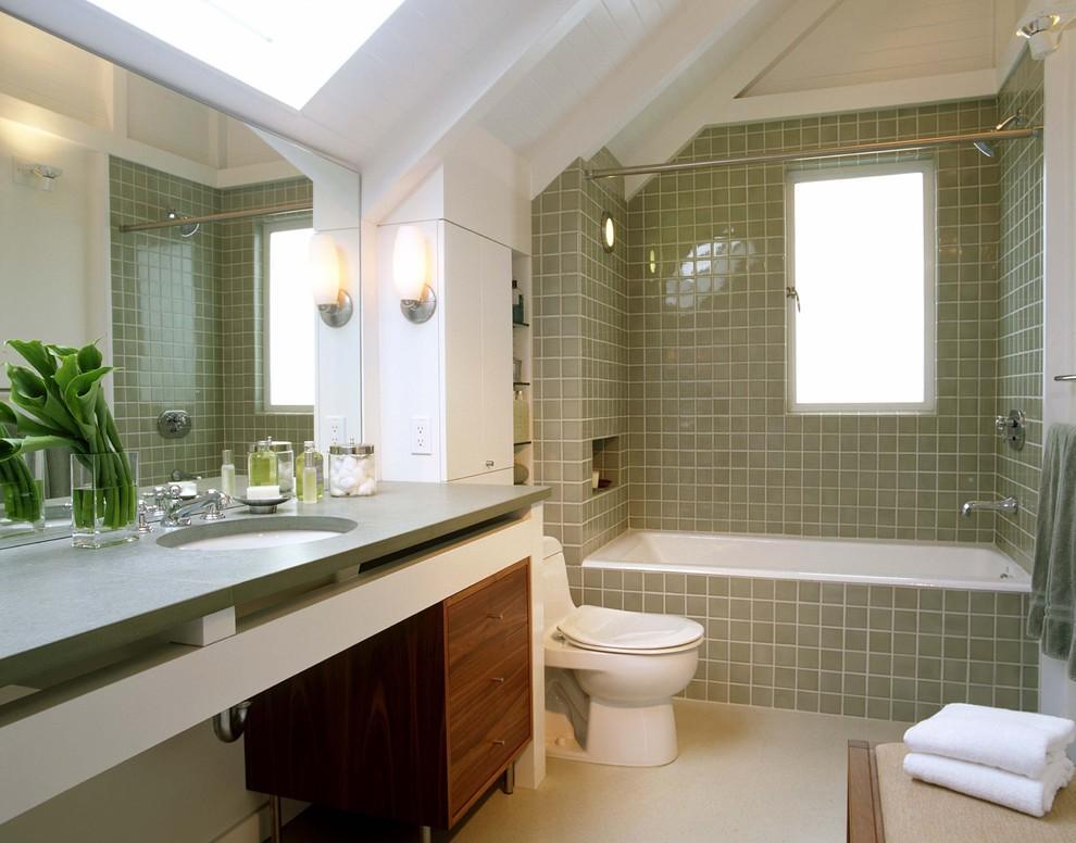 Дизайн ванной комнаты с окном, фото ЭтотДом