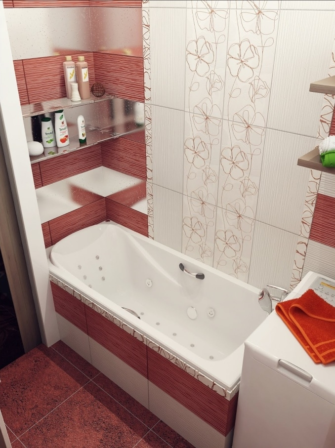 при небольшом какая плитка для маленькой ванной средство для суставов
