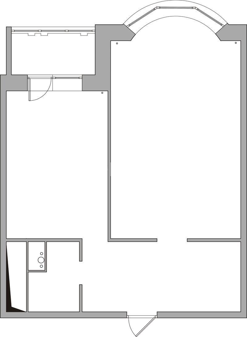 """Перепланировка 1 комнатной квартиры и-155 """" картинки и фотог."""