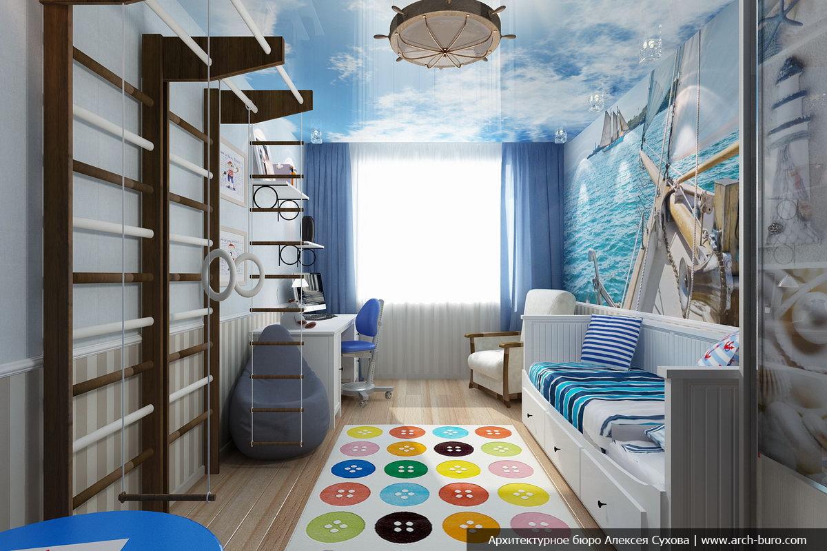 Как разработать дизайн комнаты для мальчика в морском стиле?.
