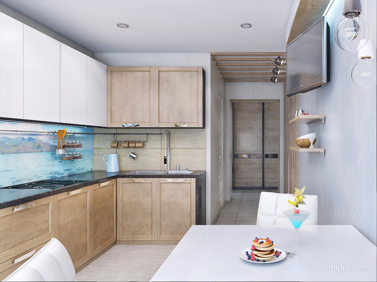 """Дизайн кухни в трехкомнатной квартире фото """" картинки и фото."""