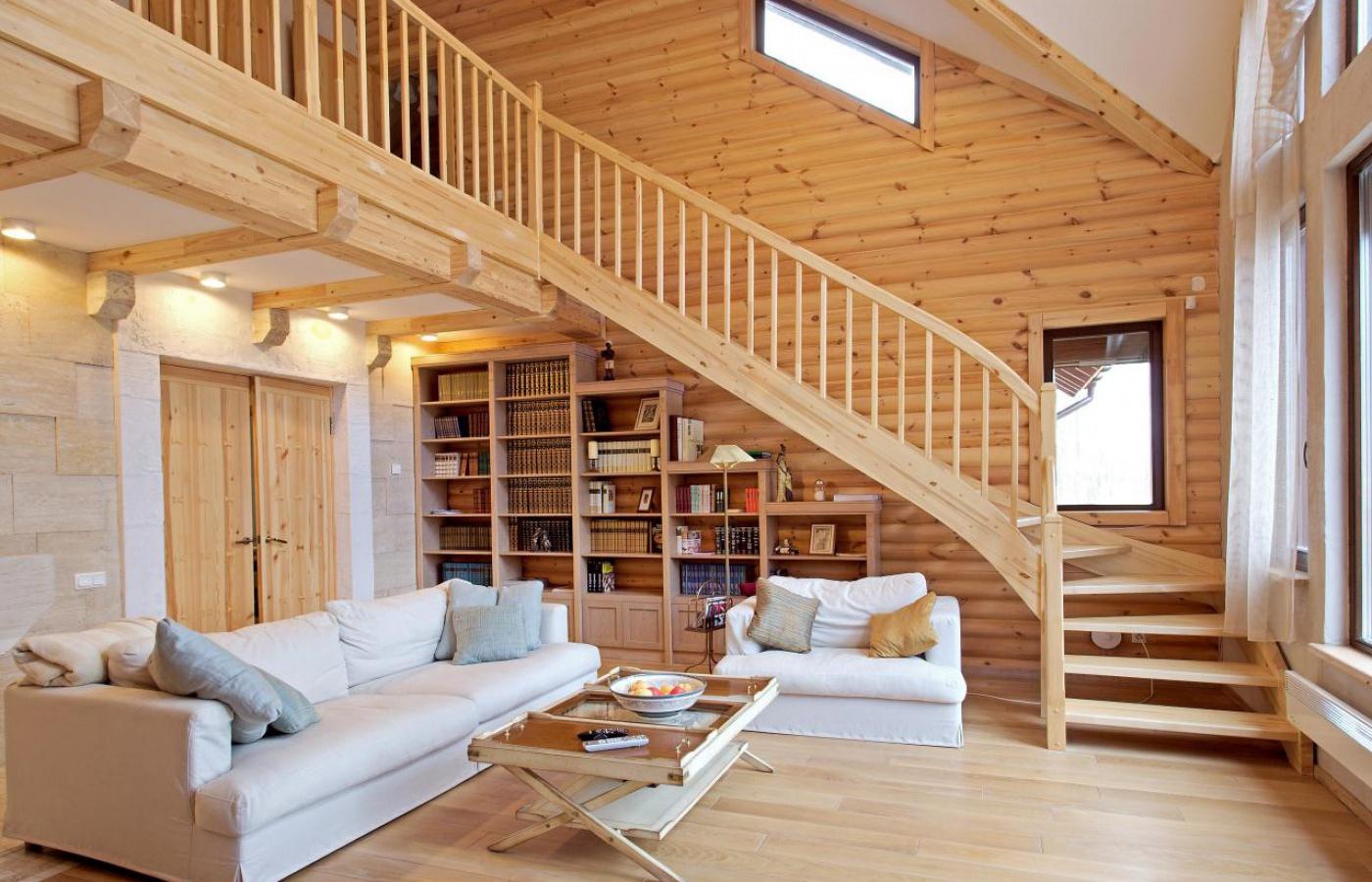 """Интерьер деревянного дома с фото """" картинки и фотографии диз."""