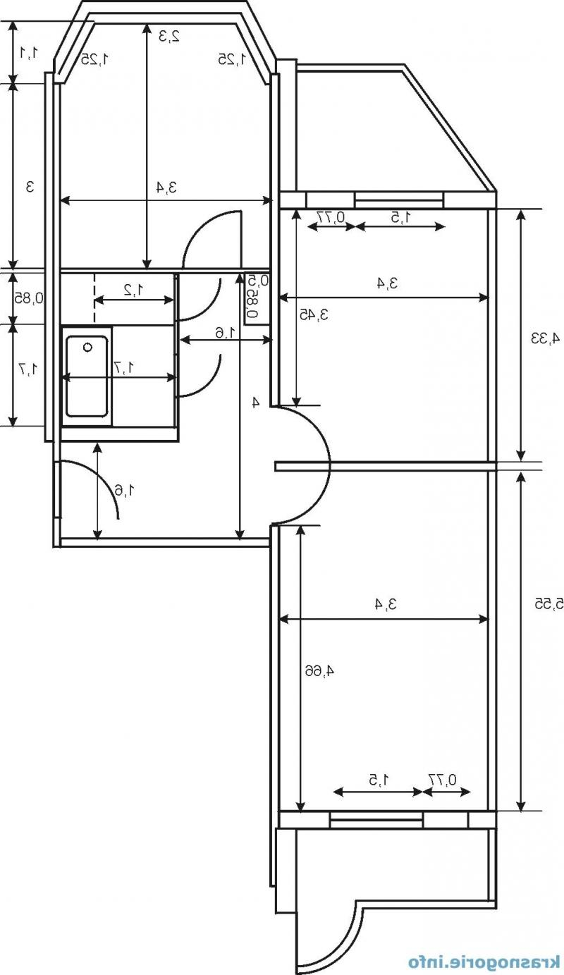 """Дизайн проект двухкомнатной квартиры п44т распашонка """" карти."""