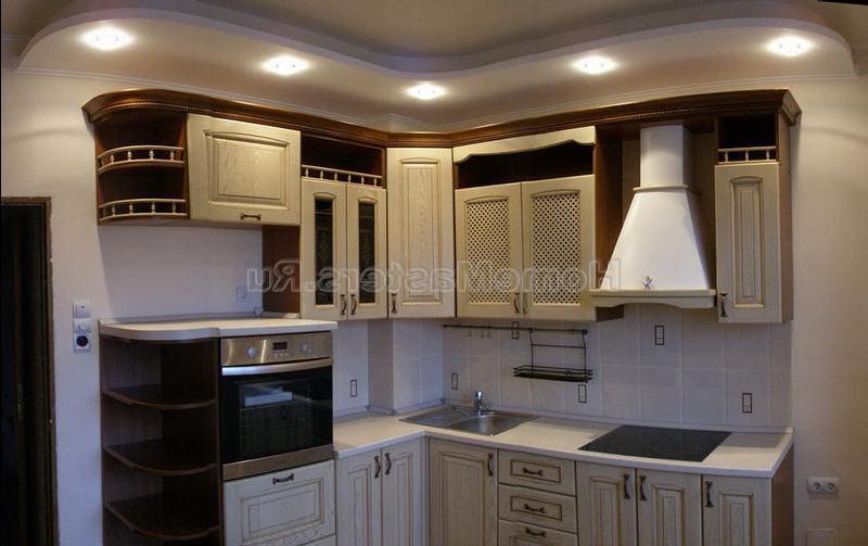 Дизайн кухни потолков фото