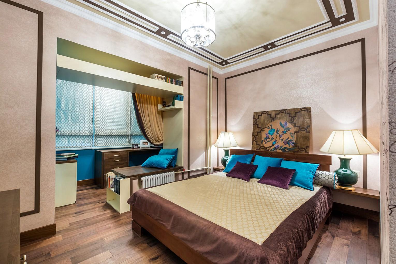 """Дизайн маленькой спальни с балконом """" картинки и фотографии ."""