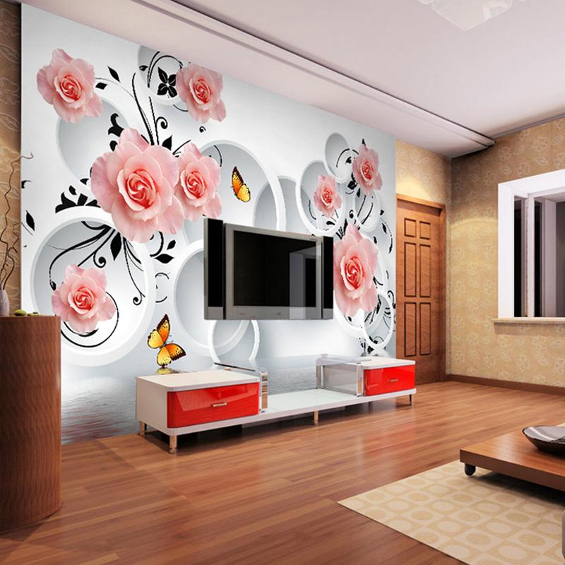 фото обои 3д на стену фото цветы цена