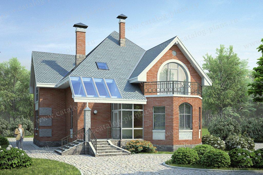 """Проект двухэтажного загородного дома с мансардой """" картинки ."""