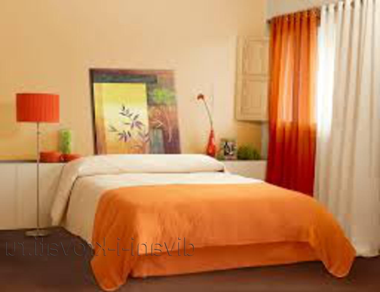 Оранжевые шторы в интерьере: советы по выбору с фото.
