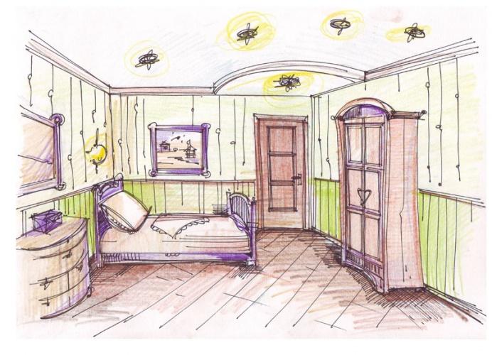 Нарисовать дизайн комнаты