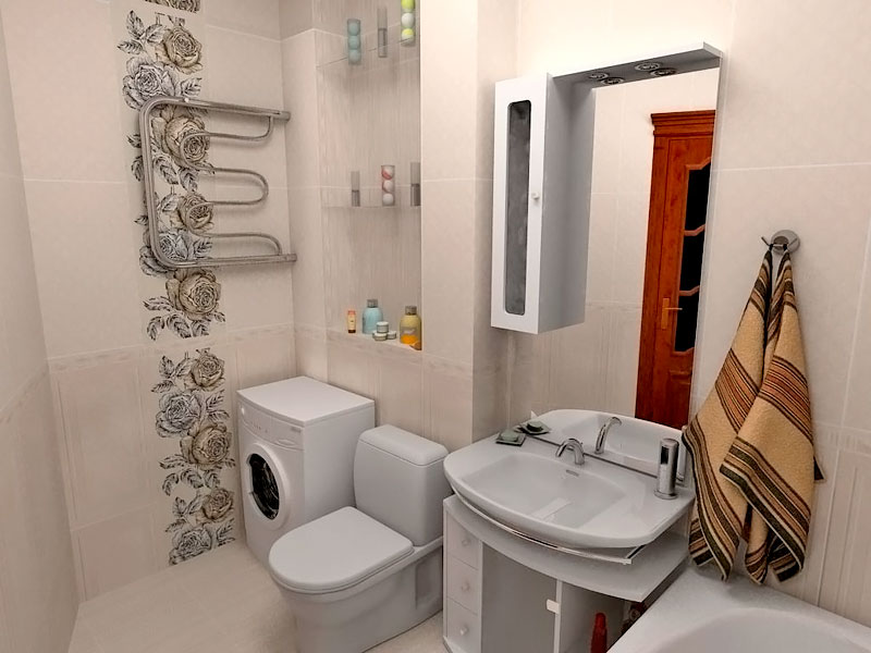 дизайн ванной комнаты фото в хрущевке с туалетом