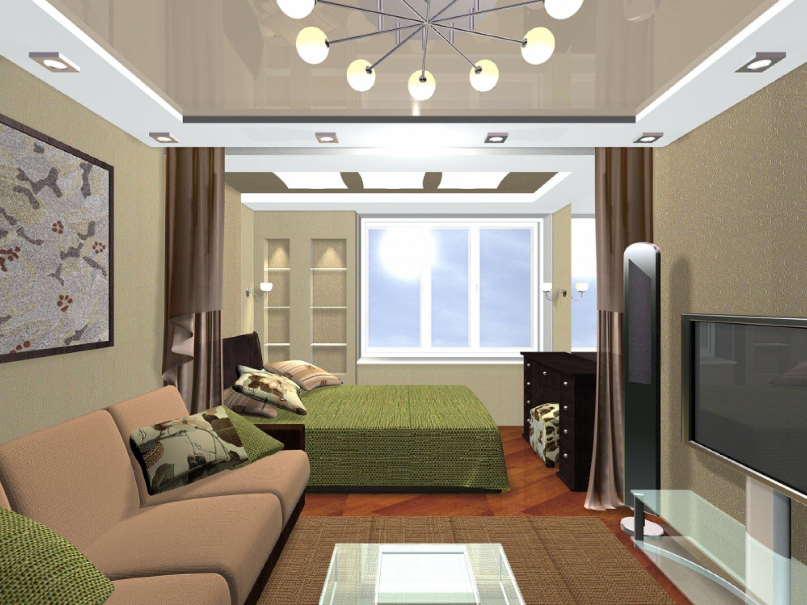 Дизайн гостиной комнаты в хрущевке с балконом
