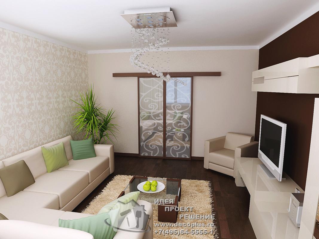 """Интерьер гостинной с балконом в хрущевке """" картинки и фотогр."""