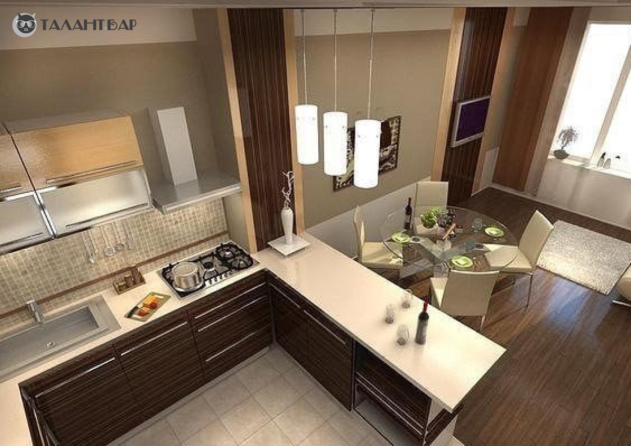 """Дизайн гостинной с кухней в доме """" картинки и фотографии диз."""