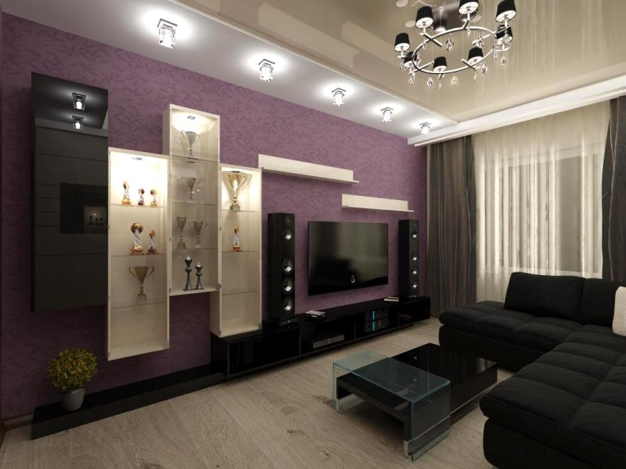 Интерьеры квартир в цвете баклажан фото