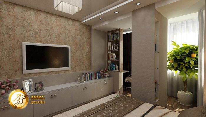 """Дизайн спальни совмещенной с кухней """" картинки и фотографии ."""
