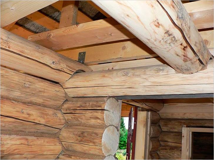 Как сделать потолок в деревне 72