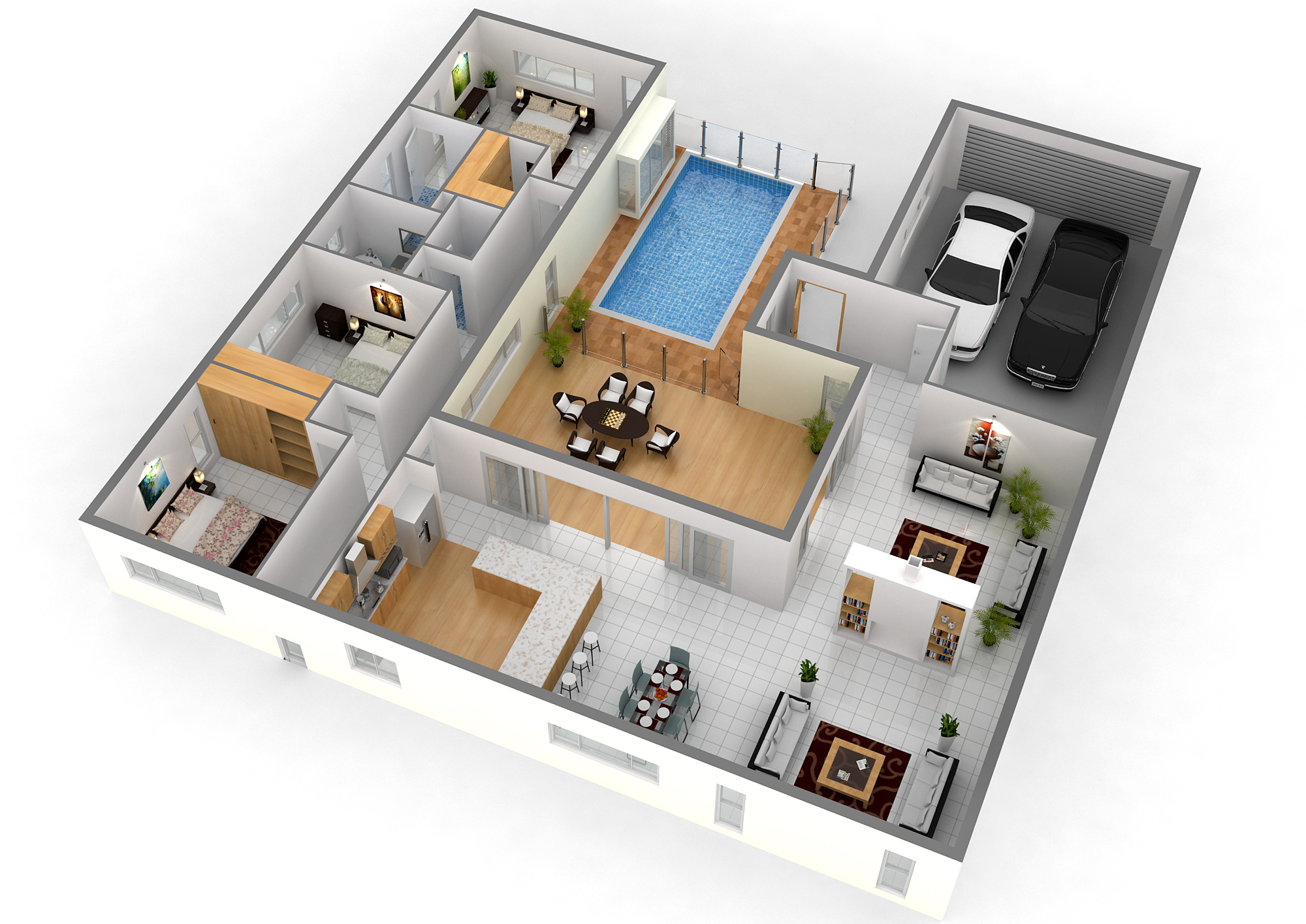 3d house plans online free for Home lan architecture