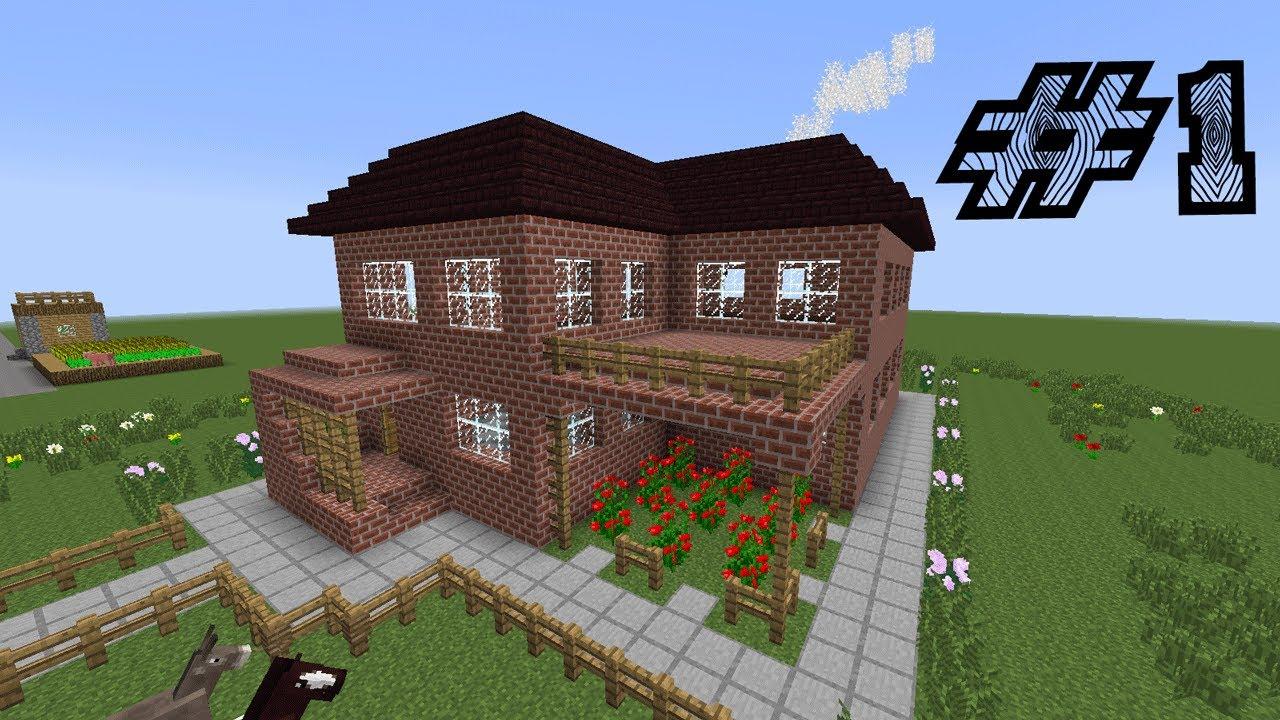 Красивый дом в майнкрафт фото схема постройки youtube.