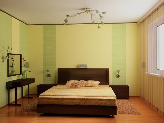Увеличить пространство маленькой комнаты с помощью обоев